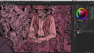Jean Giraud Moebius - Blueberry - Coloring Timelapse (w.i.p)