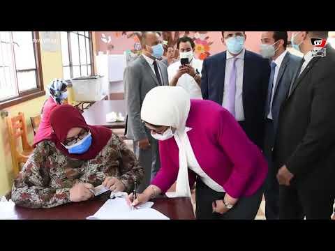 وزيرة الصحة و وزيرة التضامن تدليان بصوتهما في انتخابات مجلس الشيوخ