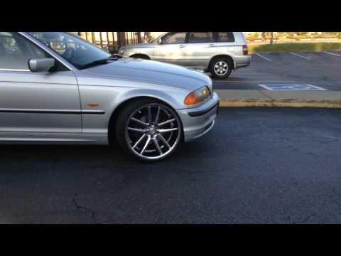 "2001 BMW 325i sitting on 20"" Cavallo CLV-4 Chrome Wheels And 225/35-20 Lexani Tires"