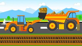 Экскаватор вместе с самосвалом убрали камни с железной дороги. Это пятый эпизод из серии мультфильмов про автомобили. Видео самосвала для детей (дошкольный возраст). Давайте посмотрим мультфильм с нами! #cartoonforkids #dumptruck