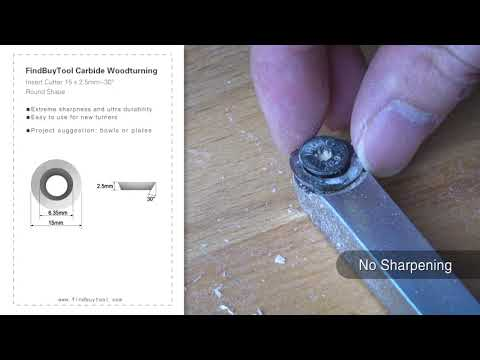 FindBuyTool Карбид Вудтурнинг Вставка Cutter 15 х 2,5 мм-30