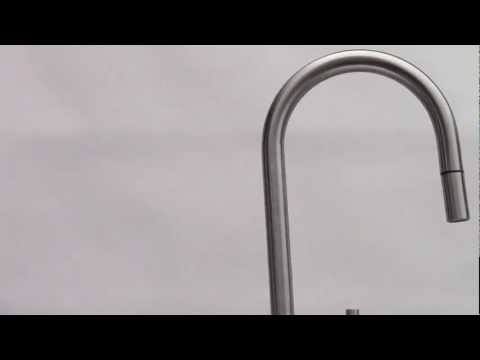 Video for Solid Stainless Steel Single Hold Pull Down Kitchen Faucet