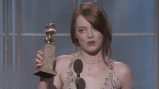 Emma Stone  Best Actress  Golden Globes Awards 2017