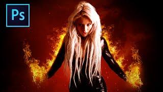 Fiery Portrait⋆ Photoshop Manipulation Tutorial