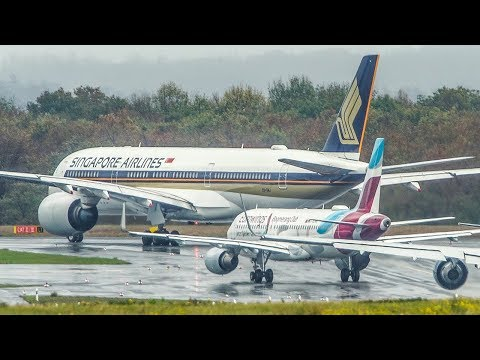 cargospotter] AIRBUS A320 OVERTAKES an AIRBUS A350 in a TRAFFIC JAM