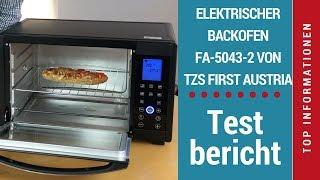 """ᐅ Unboxing- und Test-Video des Mini-Backofens """"FA-5043-2"""" von TZS First Austria ☑"""