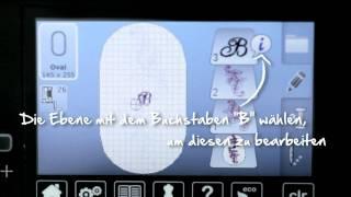 10/10 BERNINA 580 / 570 QE / 560: Stickmuster bearbeiten und Extras
