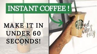 EASY Starbucks Iced Vanilla Latte with INSTANT COFFEE!!