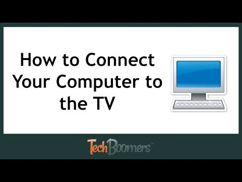 How to Connect Your Computer to TV