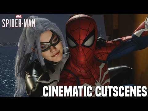 Spider-Man PS4 The Heist DLC - All Cinematic Cutscenes [Marvel's Spider-Man Black Cat DLC]