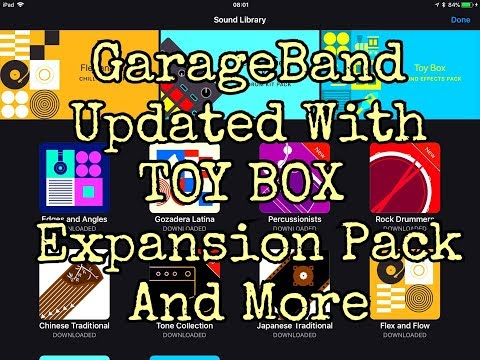 Garageband 100 Free Update Tutorial Now With Toy Box Sound