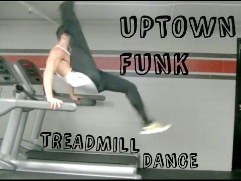 Uptown Funk Treadmill Dance Carson Dean