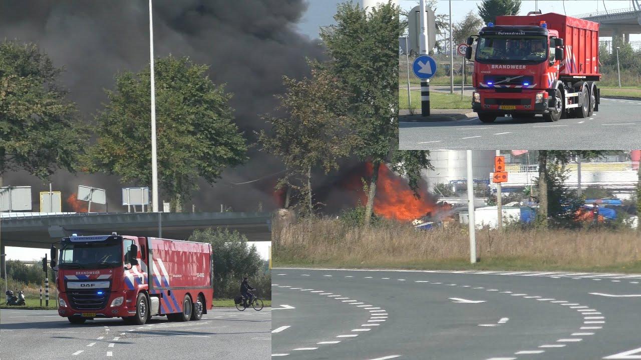 [GRIP 1/Grote Brand] Brandweer, Politie en Ambulances met Spoed in Amsterdam Westpoort