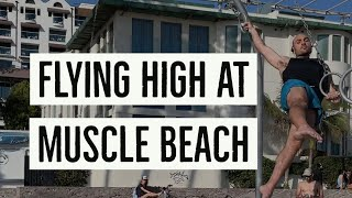 Original Muscle Beach Vlog! Calisthenics, Circus Arts, Gymnastics, Stunts & More with Antranik!