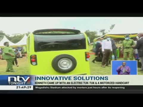 CS Mucheru hails Kenyan who made electric Tuk Tuk, motorised handcart