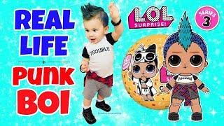 REAL LIFE LOL SURPRISE PUNK BOI Series 3 Wave 2 LOL Confetti Pop Boys Ultra Rare Gold Doll Makeover