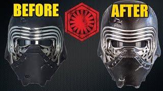 """The Black Series"" Kylo Ren Helmet Makeover- Chris' Custom Collectables!"