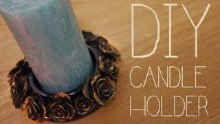 DIY Rose Candle Holder