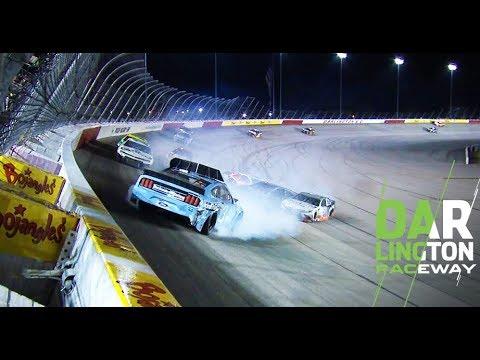 Jimmie Johnson takes on damage following multicar wreck: NASCAR Cup Series at Darlington Raceway