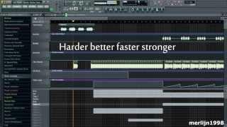 Daft Punk - Harder Better Faster Stronger (Alive 2007) [FL Studio remake]