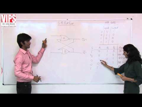 SR Flip Flop and Clocked SR Flip Flop ( Digital Electronics )(Hindi)