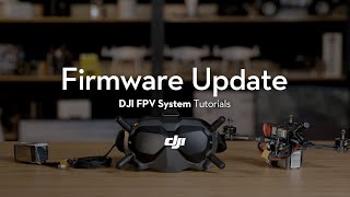 DJI FPV System | How to Update the Firmware