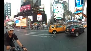 My crazy New York City bike ride - 360 panoramic video