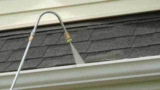 gutter washing attachment