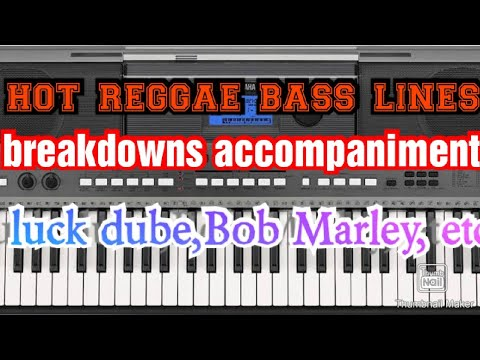 New reggae breakdown on piano with bassline 2018
