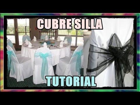 CUBRE SILLA | Para Fiestas & Decoración (TUTORIAL) ◄RASTALEX!