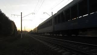 Электровоз ВЛ11М-225, 2М62 с грузовым поездом перегон Бекасово 1-Нара 15.10.2018