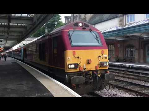 DB Cargo 67016 departs Shrewsbury with 1W96 Cardiff loco hau…