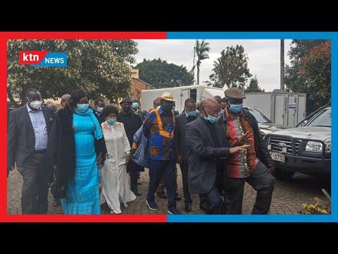 Raila in Muranga: ODM leader Raila Odinga hosted S.K Macharia and several leaders