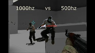 CSGO 1000hz vs 500hz mouse test