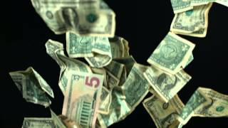 Slow Motion Falling Money High Quality Mp3 US Dollars Fall from the Sky with Video Shot in High Definition Format