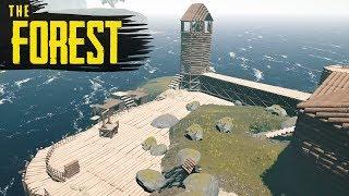 ISLAND BASE PROGRESS! The Forest Hard Survival S3 Episode 46
