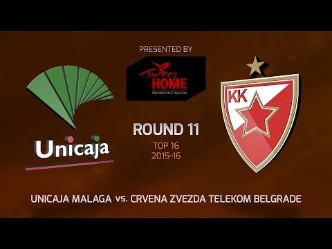 Highlights: Top 16, Round 11, Unicaja Malaga 72-78 Crvena Zvezda Telekom Belgrade