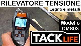 TACKLIFE. DMS03. Rilevatore di tensione, legno e metalli. Per parete e corrente. voltage detector
