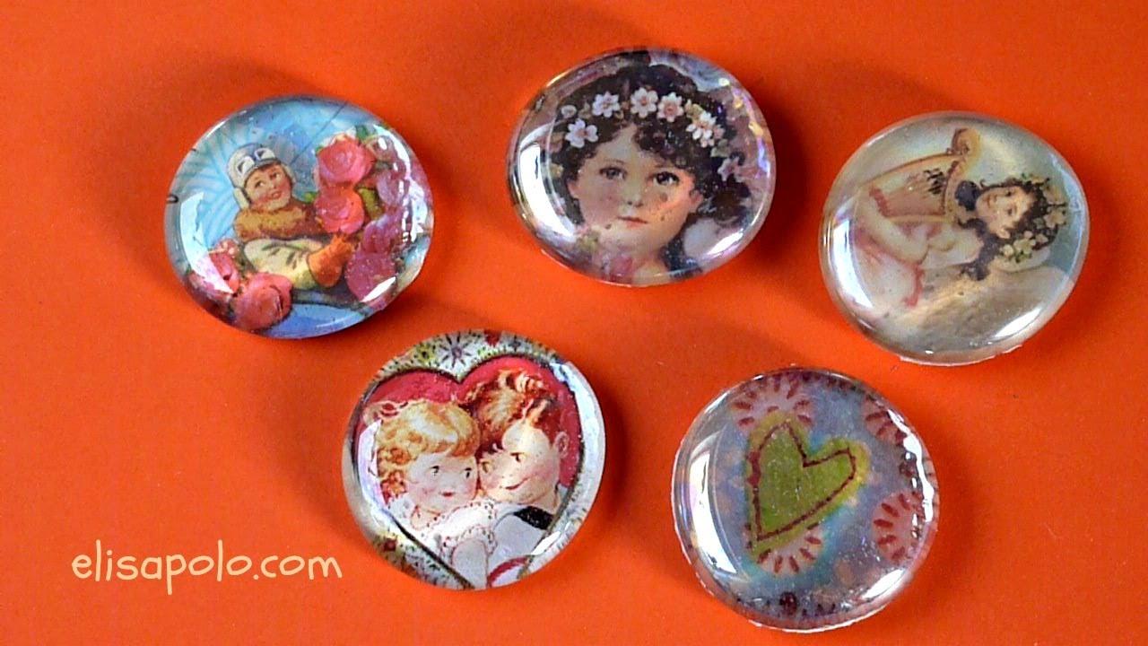 Manualidades para San Valentin, Valentine's Ideas, Imanes de Cristal, Magnet Glass