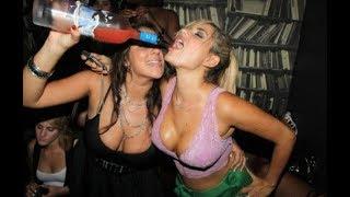 Пьяные девки и немного эротики. Приколы