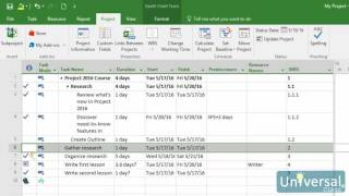 Lesson 14: Using Baselines - Microsoft Project 2016 Course | Universal Class