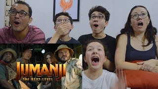 JUMANJI: THE NEXT LEVEL   Official Trailer REACTION!! | MAJELIV FAMILY REACTS