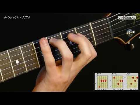 Gitarrenakkorde: A-Dur/C# - A/C# chord