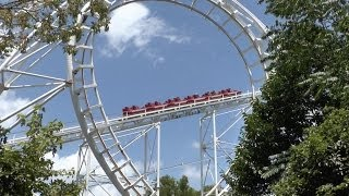 preview picture of video 'Loop and Spiral Coaster - Gongqing Forest Park, China'