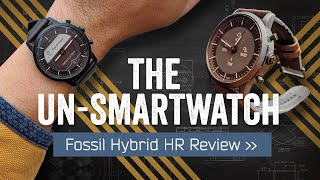 Fossil Hybrid HR Review: The Undercover Smartwatch