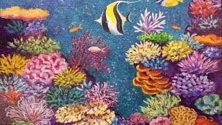 Coral Reef with Tropical Fish LIVE Acrylic Painting Tutorial