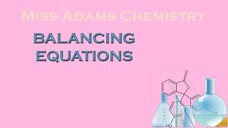 National 5: Balancing Equations