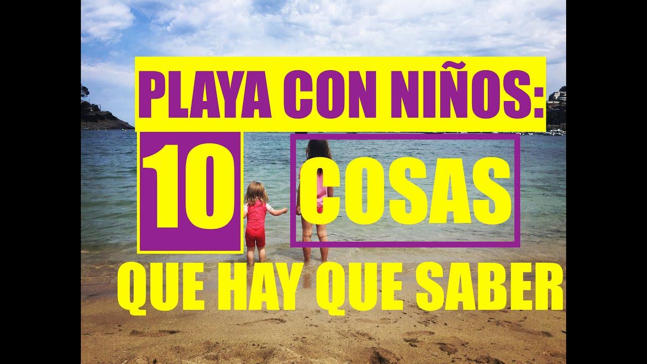 10 cosas que hay que saber si vas a la playa con niños