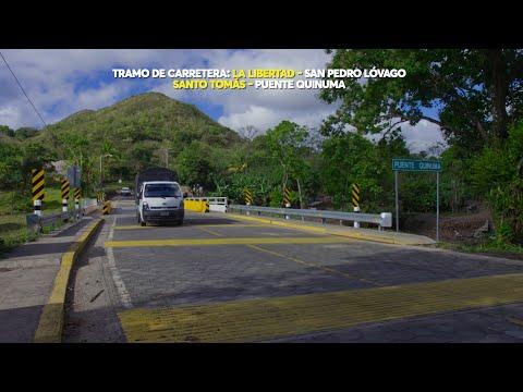 Tramo de carretera La Libertad-Santo Tomás un sueño hecho realidad