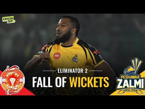 PSL 2019 Eliminator 2: Islamabad United vs Peshawar Zalmi | Caltex Fall of Wickets